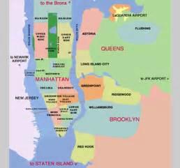Map Of New York City Boroughs And Neighborhoods by Citysonnet Com