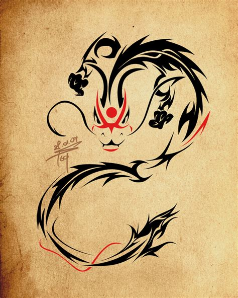 small chinese dragon tattoo designs tribal