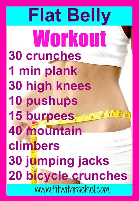 flat belly workout fit with