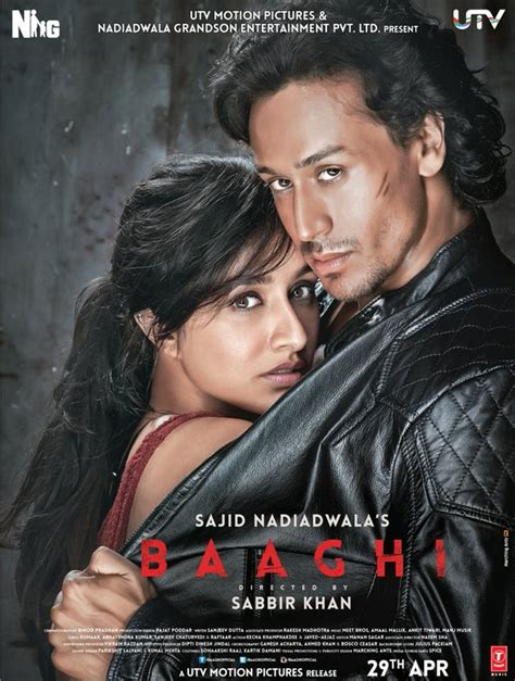 full hd video baaghi tiger shroff baaghi movie poster released shradha kapoor