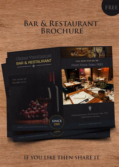 Bar Restaurant Brochure Templates Bar Flyer Templates Free