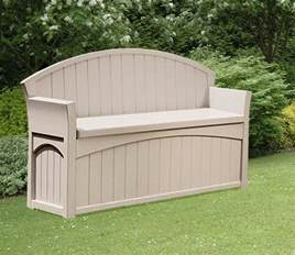 Suncast Pb6700 Patio Bench by Suncast Patio Garden Outdoor Bench With 50 Gallon Storage