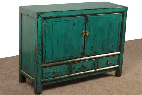 Turquoise Media Cabinet by Medium Painted Cabinet Media Console Turquoise