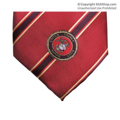 silk style tie stripe on w marine corps emblem