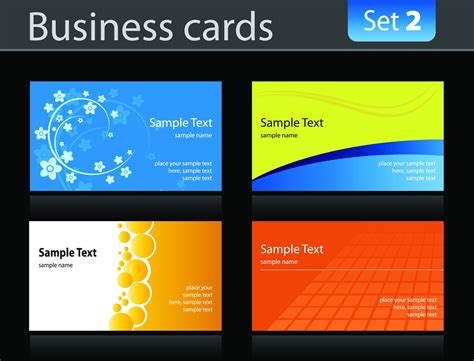 ad business card templates spot ink card advertising design