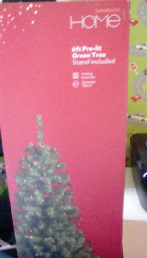 christmas trees at sainsburys sainsburys 6ft pre lit tree decorations in new like condition in govan glasgow