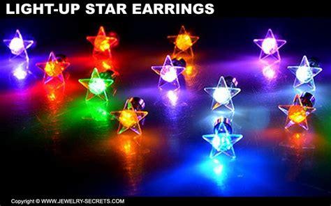 light up christmas earrings light up christmas star earrings jewelry secrets