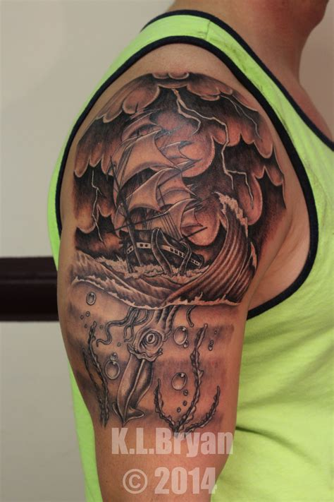 kraken tattoos 51 kraken attractive shoulder tattoos