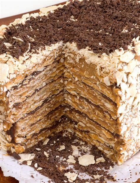 torta panqueque manjar receta torta mil hojas manjar chocolate la punta