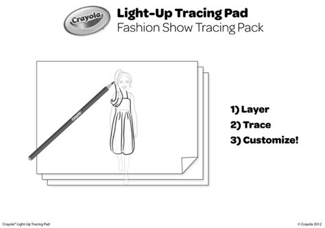 fashion show tracing pack coloring page crayolacom