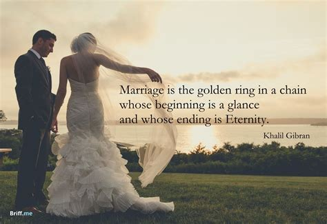 Wedding Quotes   Golden ring in a chain   for the best