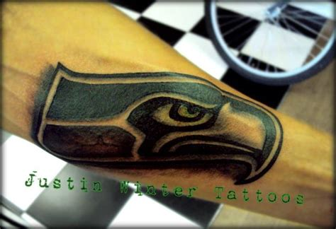 seahawks tattoo seattle seahawks by justin winter tacoma wa
