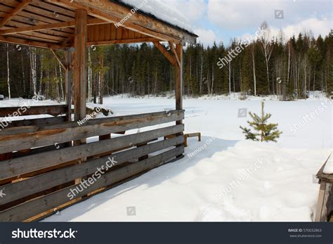 old wooden house in russian village stock photo colourbox snowcovered old wooden houses russian village stock photo