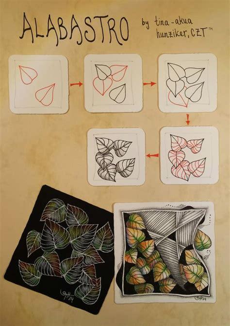 doodle 9 in 1 alabastro zentangle tangle by tina akua hunziker