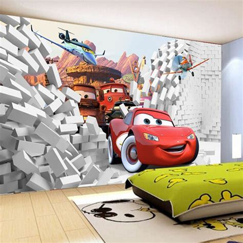 cars wall mural 2016 custom 3d cars wall mural wallpaper papel de parede