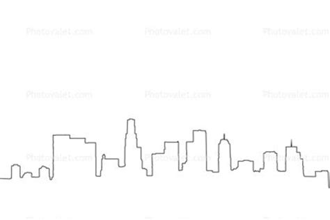 Skyline Outline by Los Angeles Downtown Skyline Outline Cityscape Images Ideas For