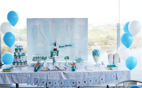 Home Decor Ideas On A Budget Blog by Air Balloon 1st Birthday And Baptism Candy Buffet