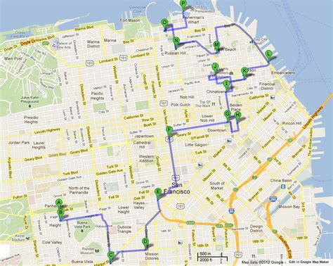 san francisco map tourist attractions maps update 21051488 tourist attractions map in san
