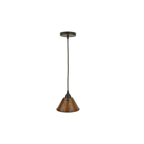 Premier Copper Products Hand Hammered Copper 7 Inch Cone Hammered Copper Pendant Lights