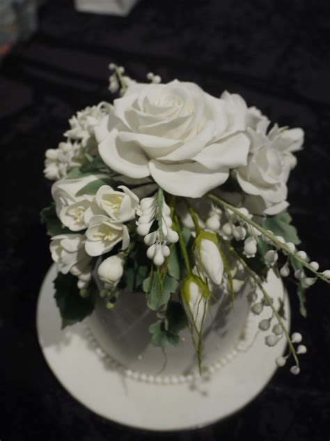 Sugar Flowers Wedding Cakes by Sugar Flowers On Wedding Cake Cakecentral