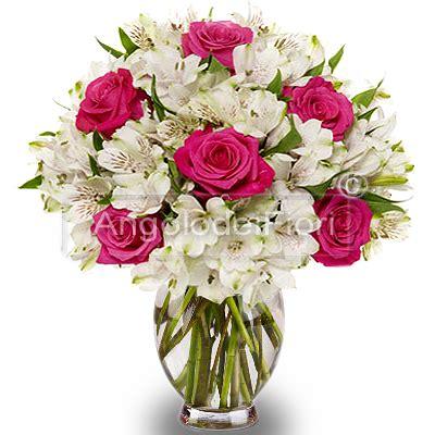 co d fiori armonia di fiori bouquet di fiori bianchi e fuxia da