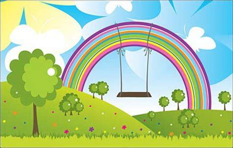 Bumper 3d Pelangi Rainbow vector landscape free downloads vector vector scenery free vector psd flash jpg www