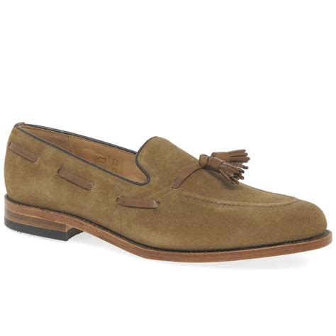 mens suede loafers loake lincoln mens suede tassel loafers from charles