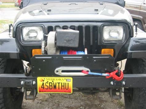 How To Install A Winch On A Jeep Wrangler Warn 8274 On A Yj
