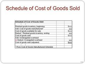 cost of goods sold template chapter 3 product costing and cost accumulation in a batch