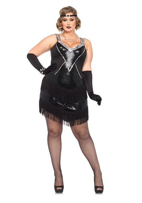 plus size flapper costume 1920s costumes 20s halloween plus size glamour flapper costume