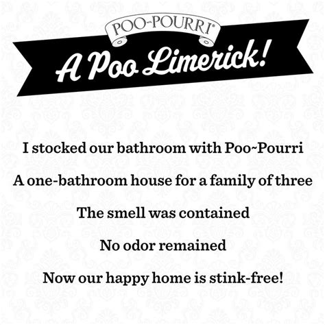 bathroom limerick a poo pourri limerick bathroom humor pinterest