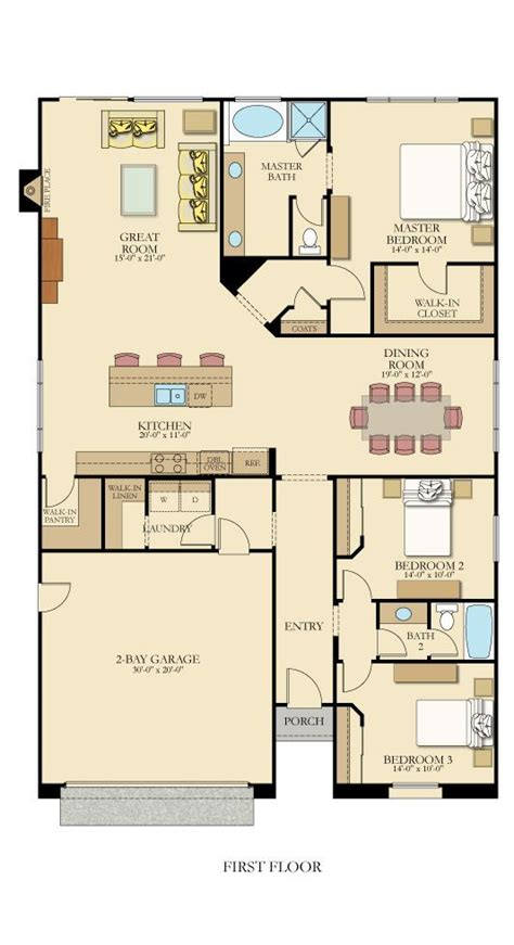 12 bedroom house plans one level floor plan from lennarinlandla featuring 3