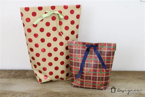 How To Make A Gift Bag Out Of A4 Paper - how make a gift bag out of gift wrap the team