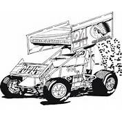 Sprint Car  Free Coloring Pages On Art