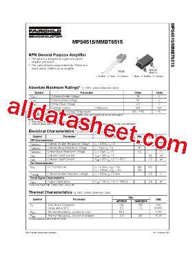 bc547 transistor fairchild mps6515 データシート pdf fairchild semiconductor