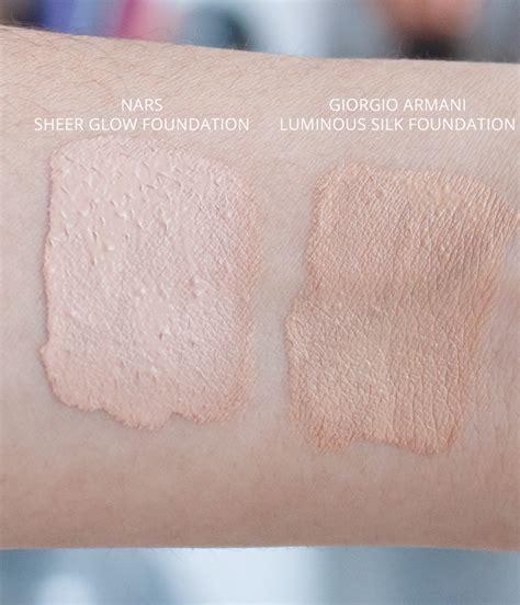 Foundation Giorgio Armani Nars Sheer Glow Vs Giorgio Armani Luminous Silk The