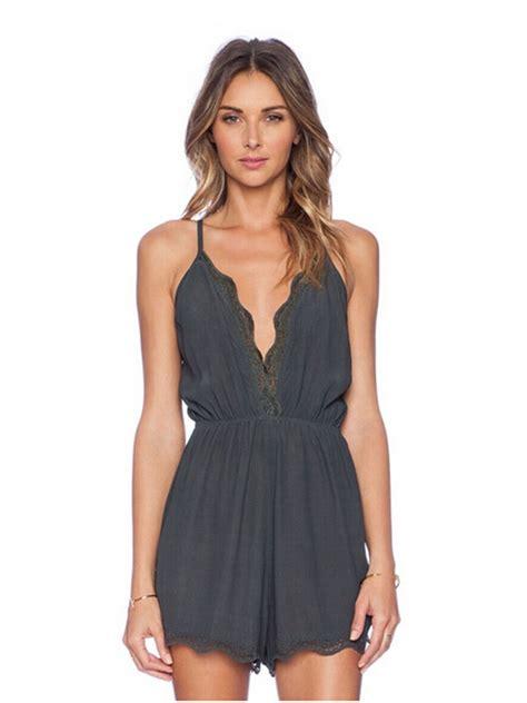 Lace V Neck Jumpsuit v neck lace backless jumpsuits for alex nld