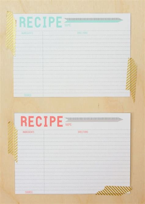 recipe template free 40 recipe card template and free printables tip junkie