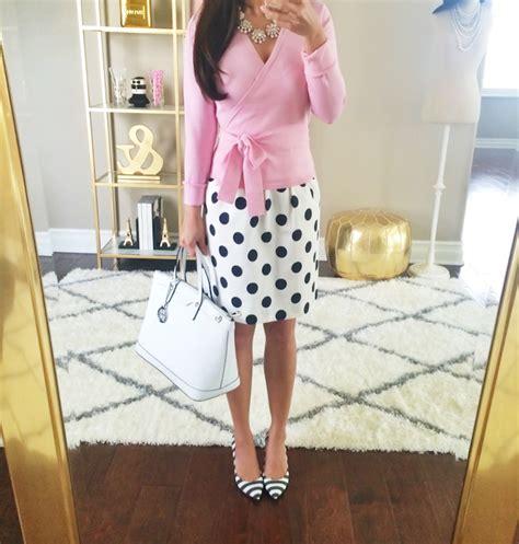 Bj 9496 Polkadot Slim Dress dvf ballerina cardigan sweater and polka dot skirt