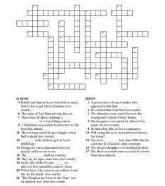 9 best images of 4th grade crossword puzzle worksheet