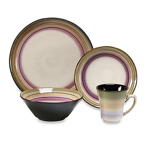 sango arcadia black 16 dinnerware set bed bath