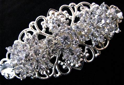 Vintage Bridal Hair Barrette by Rhinestone Wedding Barrette Bridal Hair Barette
