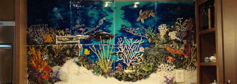 custom glass tile mural underwater seascape kitchen backsplash designer glass mosaics designer glass mosaics