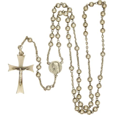 silver rosary deco silver rosary communion from