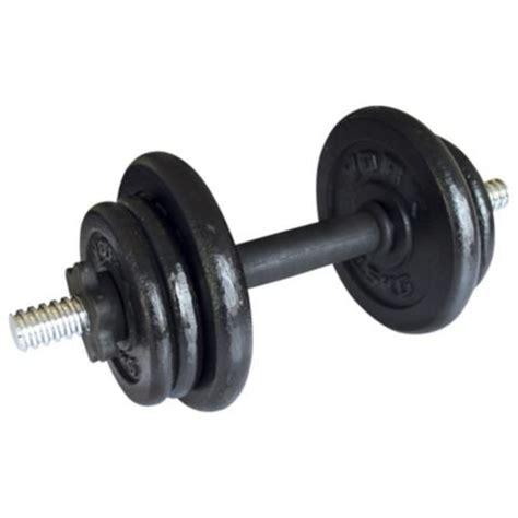 Dumbbell Tesco York Fitness 10kg Dumbbell Weights Single Cast Set 163 12