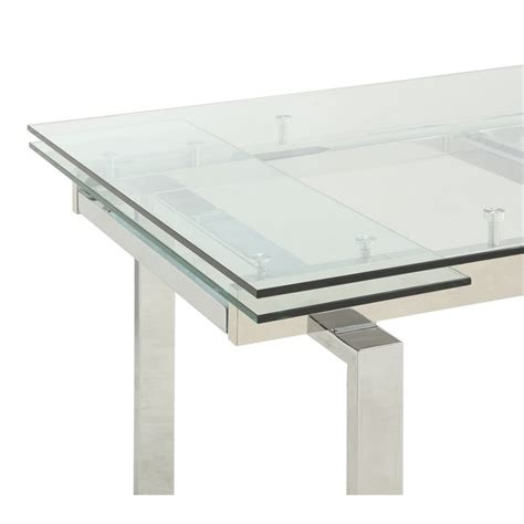 Coaster Glass Top Dining Table Coaster Glass Top Dining Table In Chrome 106281