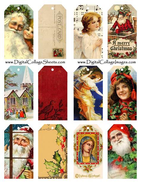 printable vintage gift tags christmas 9 best images of vintage christmas printable labels