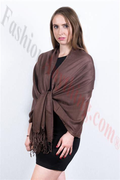 Silky Pashmina 1 silky soft solid pashmina scarf chocolate