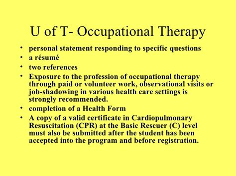 Letter Of Intent Occupational Therapy How To Get Into Physio Occupational Therapy