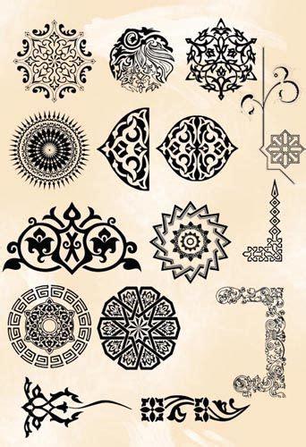 pattern islamic photoshop grey persian brush pack 03 pattern ornament